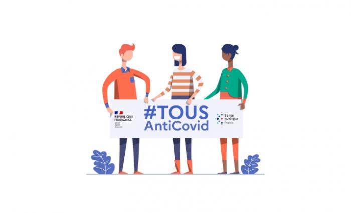 Illustration appli Anti-covid